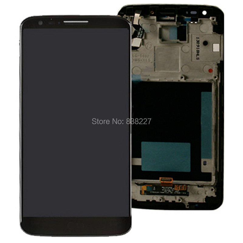 For LG G2 D800 D801 D803 F320 F320S F320I LCD Display Screen + Touch Panel Digitizer Assembly With Frame Free shipping батарейку на lg kg 800