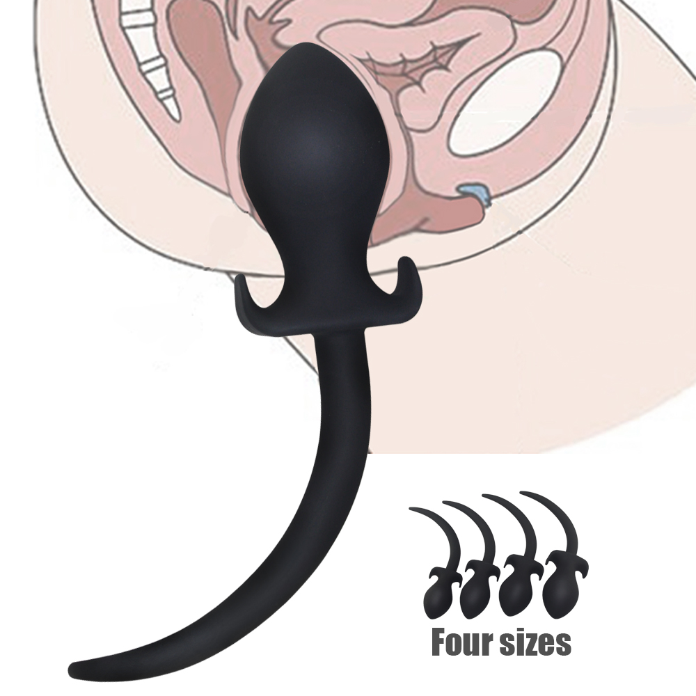 4 Sizes BDSM Erotic Toys <font><b>Silicone</b></font> <font><b>Dog</b></font> <font><b>Tail</b></font> <font><b>Anal</b></font> <font><b>Plug</b></font> For Men Woman Adult Games, <font><b>Slave</b></font> <font><b>Butt</b></font> <font><b>Plug</b></font> <font><b>Tail</b></font> Sex Products For Gay