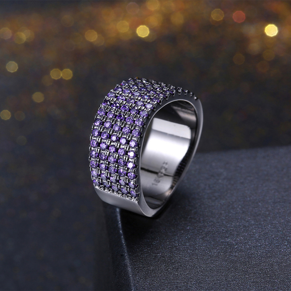 New Arrival Black Gun Plated Cool Rock Rings for Men Stainless Steel Brand Multilayer Micro Cubic Zirconia Fashion Jewelry Gifts