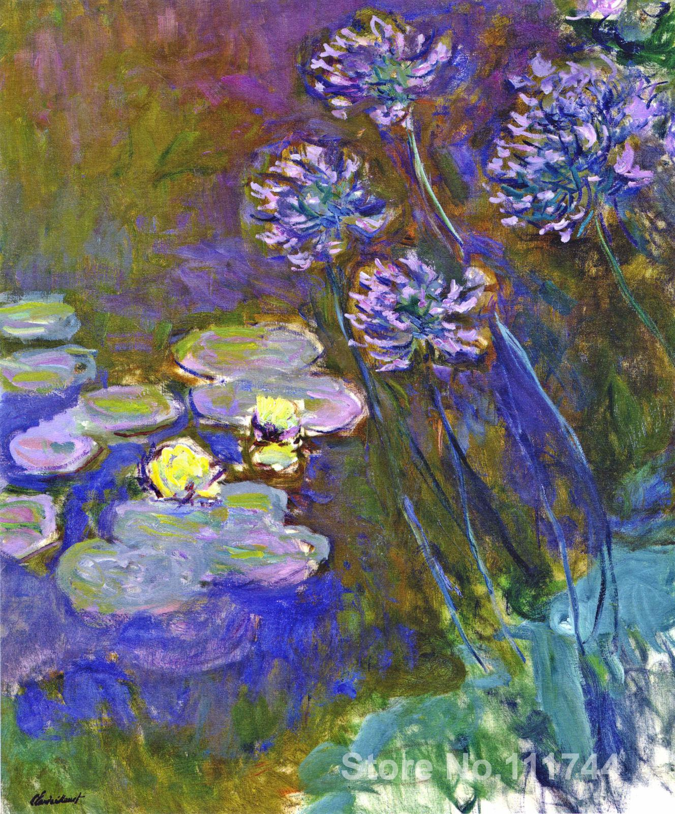 Online art gallery water lilies and agapanthus claude for Online art gallery paintings