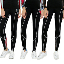 Women/Girls New Base Layer Pants Quick Dry Female's Slim  Long Pants  Fitness Workout Trousers Black Jogger Leggings