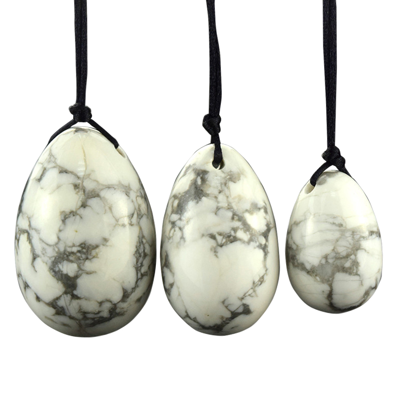 Drilled Jade Eggs 3 Pcs White Howlite Yoni Egg  Kegel Exercise Pelvic Floor Muscles Vaginal Exercise Massage & Relaxation вертикальный погружной фрезерный станок stanley strr1200 b9