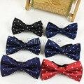 Nova Moda Gravata borboleta Colorida Borboleta Dot Tecido de Poliéster Ajustável Bowtie Clássico Para Homens