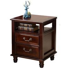Сплошная деревянная прикроватная тумбочка в европейском и американском стиле шкафчик для хранения в спальню простой сосновый мини-шкаф