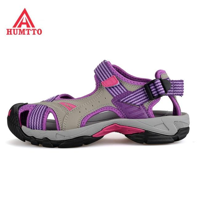 HUMTTO Women's Summer Outdoor Trekking Hiking Sandals Water Shoes Sneakers For Women Climbing Mountain Aqua Beach Shoes Woman