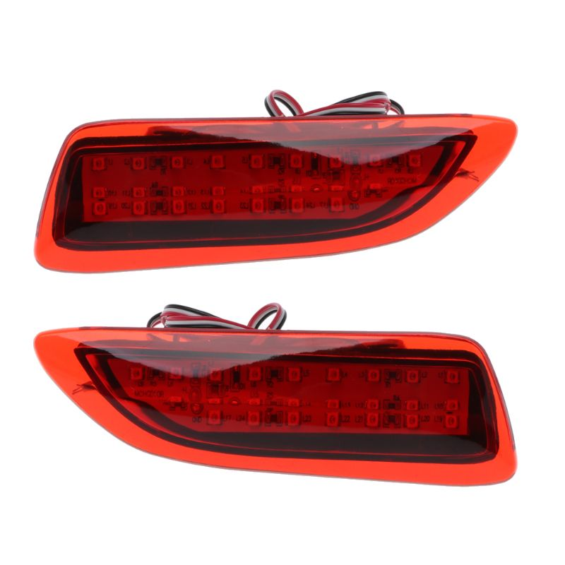 1Pair FTT Rear Bumper Lights LED Reflector Brake Stop Signal Running Lamp For Toyota Corolla Lexus CT200h in Signal Lamp from Automobiles Motorcycles
