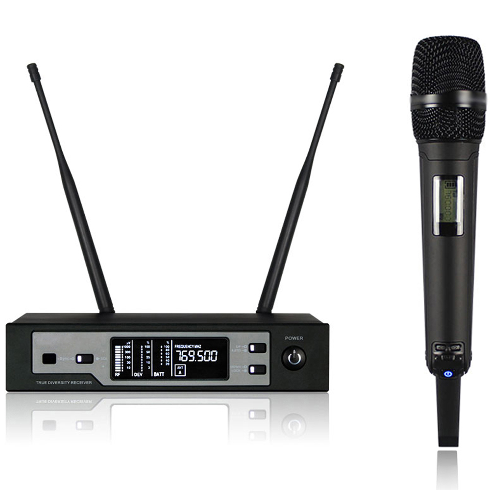 True diversity stage microphone skm9100 Wireless Microphone System UHF Single Cordless Handheld Mic w Receiver for