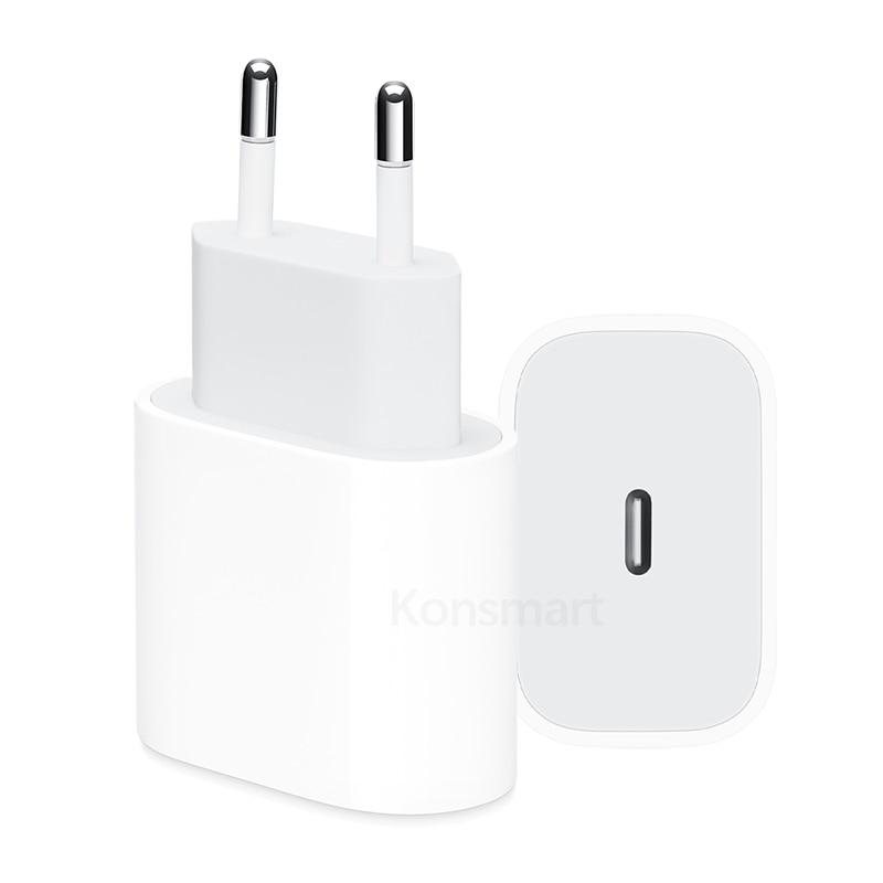 Original 18W de carga rápida de la policía de cargador para Apple iPhone 11 Pro 8 Plus XR XS Max iPad genuino USB adaptador de corriente de viaje tipo C Euro