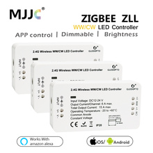 ZIGBEE WW CW LED Controller Compatible Smart Home Bridge ZIGBEE Dimmer For LED Strip DC 12V 24V Amazon Alexa Echo ZLL Controller