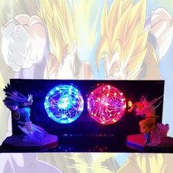 لعبة دراغون بول Z غوكو فيغيتا معركة Led ضوء الليل لمبة لعبة دراغون بول لامبارا سون غوكو مصباح لغرفة النوم