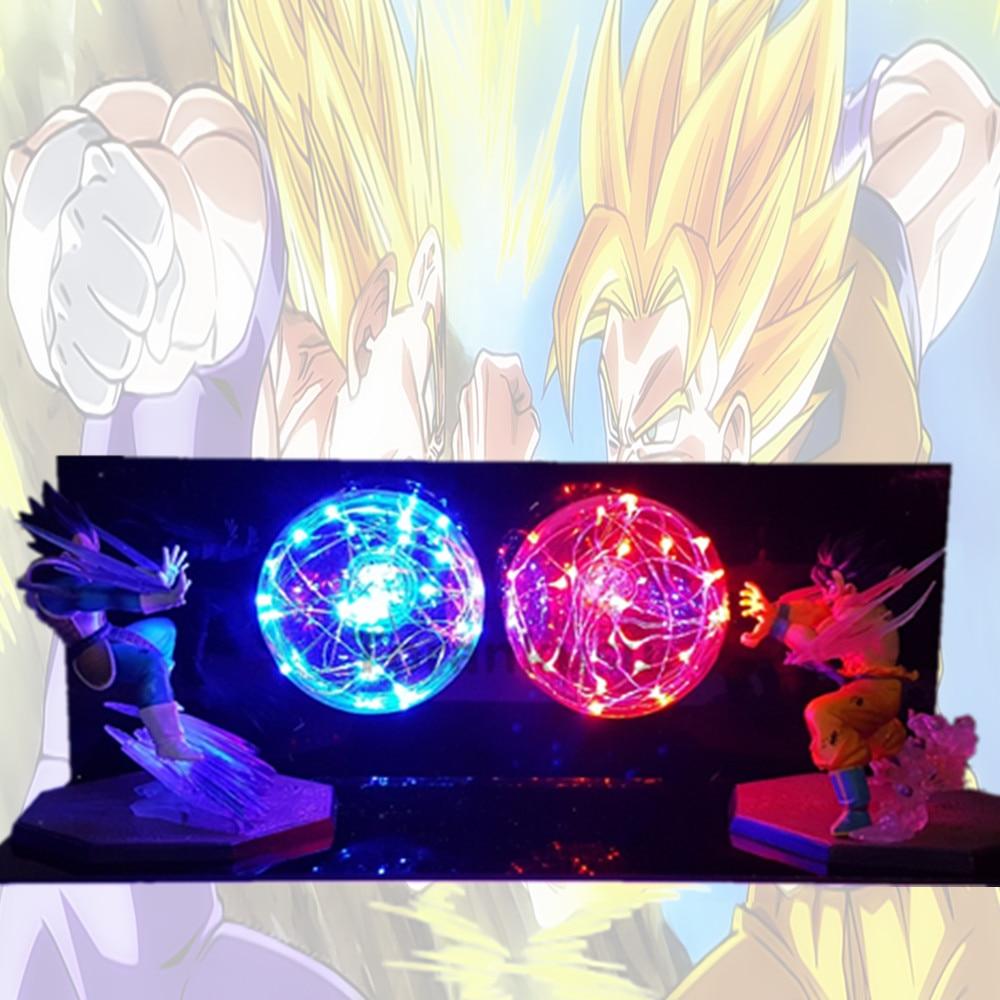 Dragon Ball Z Goku Vegeta Battle Ha Condotto La Luce di Notte Della Lampadina Dragon Ball Lampara Son Goku Lampada Per La Camera Da Letto