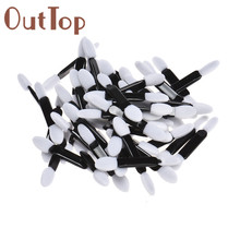Best Deal Good Quality Eye Shadow Brush Disposable Double end Sponge Make-Up Applicator Eyebrow Lip Brush Comestics 50pcs/lot