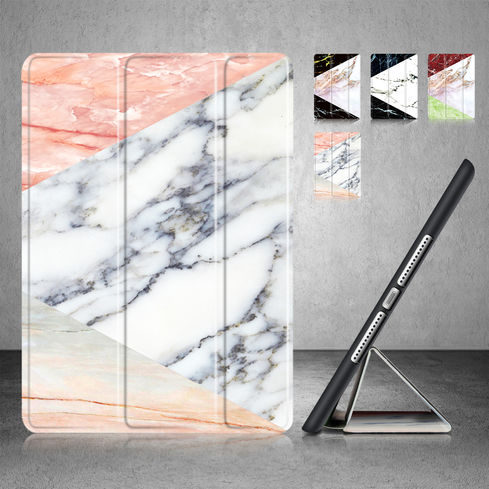 Marble pattern New Case for Apple New iPad 9.7 to 2017/2018 . YCJOYZW - PU leather cover+TPU soft Case-Smart sleep wake up case english 9 frequency full featured smart card key machine rfid nfc copier ic id reader writer 5pcs t5577 cards
