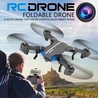8807HD G 8807W RC Quadcopter Foldable Mini Drone Helicopter RTF WiFi FPV With HD Camera Voice Control/G sensor Mode VS XS809W