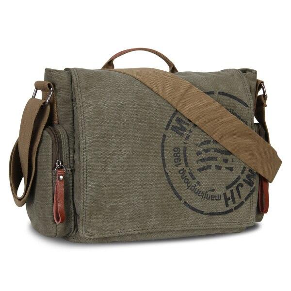 Bolsos de mensajero para hombre, bolso de hombro de lona, moda para hombre, bandolera clásica de negocios, bolso de viaje estampado, de alta calidad