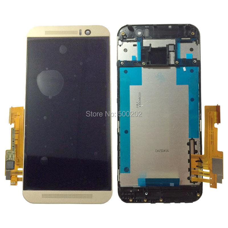 Подробнее о 100% Tested New LCD Display Digitizer Touch Screen Panlel Assembly with Frame For HTC ONE M9 Black White Gold Free Shipping new lcd for htc one m9 lcd touch screen display with digitizer full assembly free shipping
