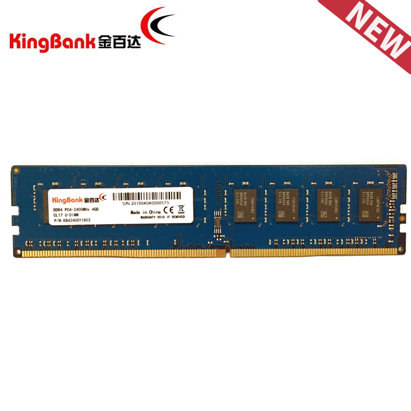 kingbank PC Memory RAM Memoria Module Computer Desktop DDR4 4GB 8GB 8G 4G PC4 2400MHz ECC Compatible with AMD Intel Platforms corsair vengeance lpx 8gb 8g ddr4 pc4 3000mhz pc computer desktop ram ecc memory 8gb ram