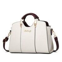 Брендовая модная сумка через плечо  кожаная сумка  сумки на плечо для женщин  2019  винтажная сумка-мессенджер с буквенным принтом  женская сум...