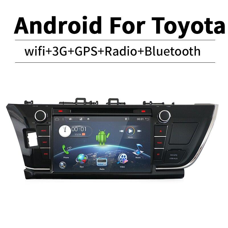Bosion 9 2 Din Android 7.1 car dvd radio autoradio gps navigation Radio Steering wheel controls For Toyota corolla 2013-2015
