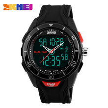 SKMEI Men's Sport Watches Dual Display Digital Quartz Watch Electronic Watch Army Military Sport Watch Relogio Masculino 1157