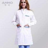 2016 Stylish White Medical Lab Coat Clothing Medical Services Uniform Nurse Clothing Long Sleeve With Comfortable
