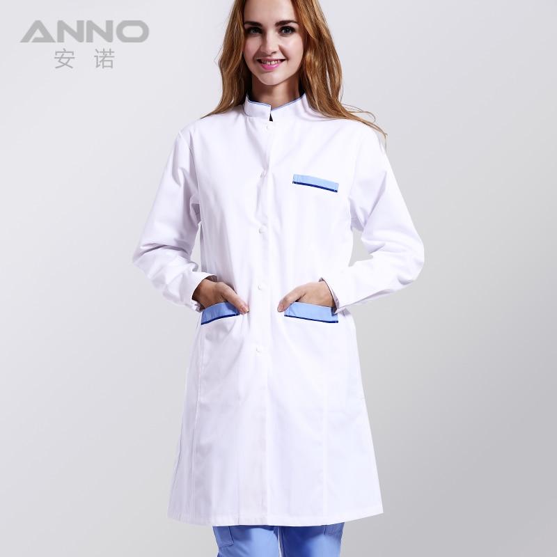 White Medical Lab Coat Clothing Plus size Long Nurse Doctors Coat Women Man Dental Disposable Lab Coat Scrubs