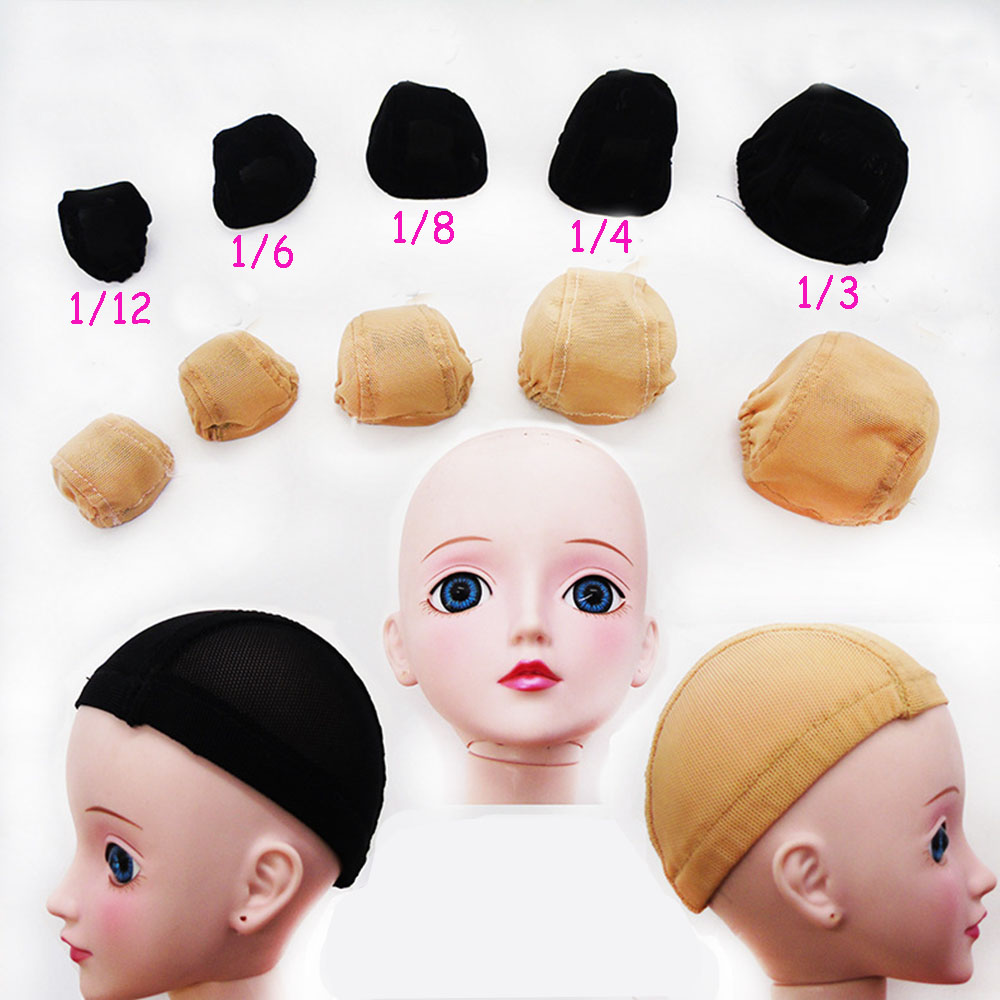 Hot Kids DIY Prop BJD Doll Wigs Headgear Hairpiece Cap Doll Accessories Fixed Hairnet Hair Net Toy For 1/3 1/4 1/6 BJD Toy hight quality morse taper shank drill chucks set cnc lathe drill chuck 5 to 20mm b22 with no 3 morse taper mt3 with key