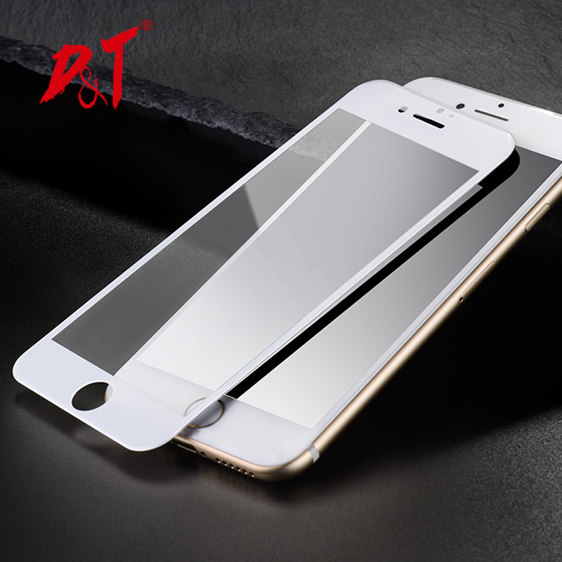 DT 3D Full Cover Curved Carbon Fiber Soft Edge Tempered Glass For iphone 6 6s 6plus 6splus 7 7plus Screen Protector phone film