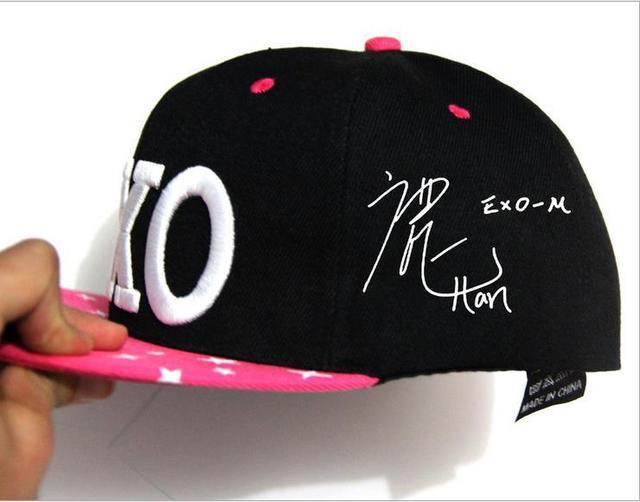 NEW Fashion Spring and Summer kpop EXO XOXO cap Unisex Snapback Caps Baseball Caps Casquette hat Hip-hop Cap Sports Outdoors Cap