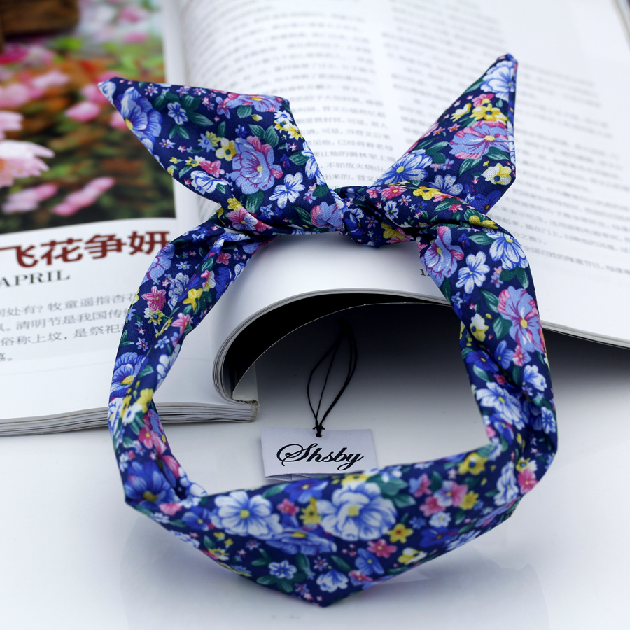 Shsby Watch accessories Ladies flower cloth Watch Bands women Wrist Bands For Clock Children Headwear girls hair bands mixed 1 new arrival styling tool striped ball elastic hair bands accessories make you beautiful used by women young girl and children