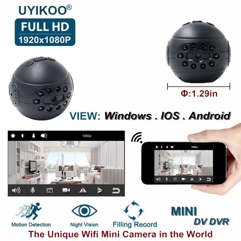Nuovo Wireless Wifi Mini Macchina Fotografica del IP di HD 1080 p DV DVR Segreto Video Piccola Videocamera Con Visione Notturna di Rilevamento del Movimento PK C1 SQ12 Cam