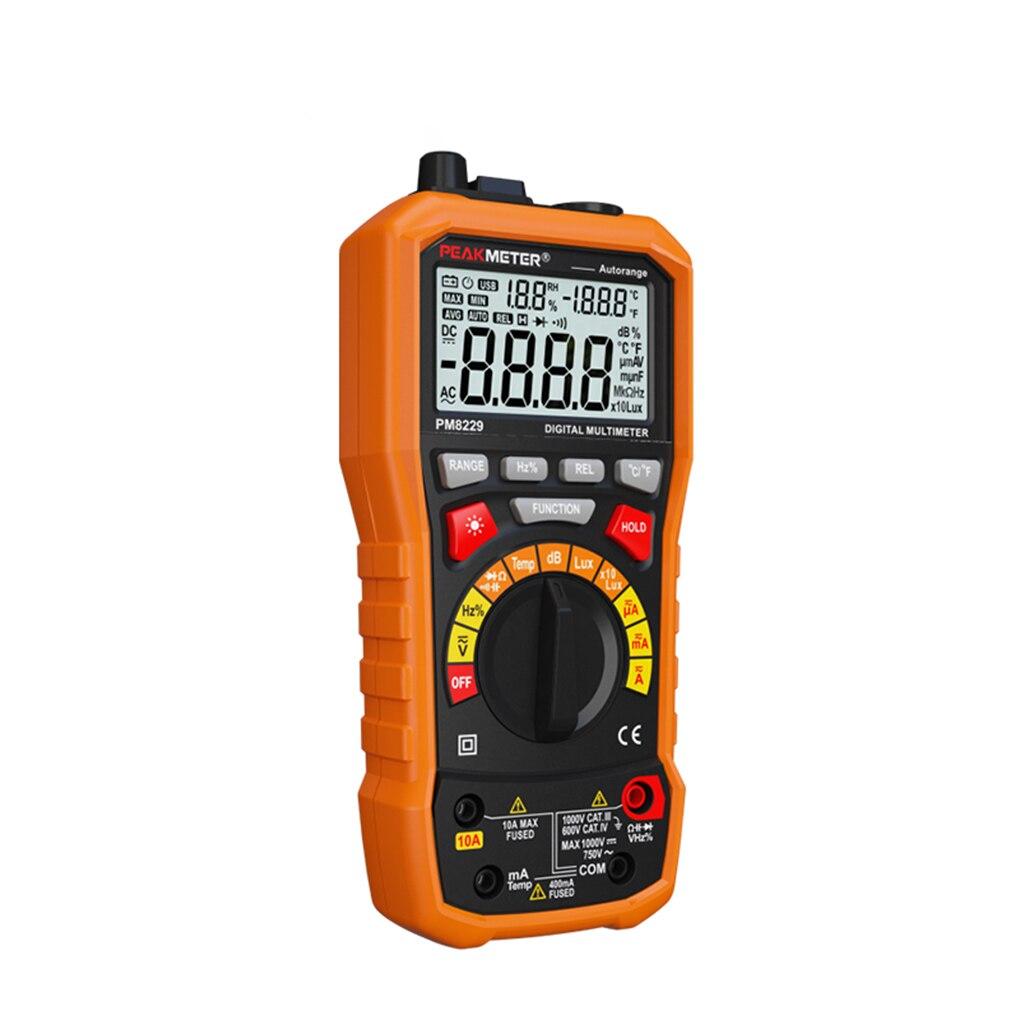 PEAKMETER MS8229 Multifonctionnel Numérique Multimètre Auto/Manuelle Voltmètre Résistance LCD Rétro-Éclairage Testeur De Mesure