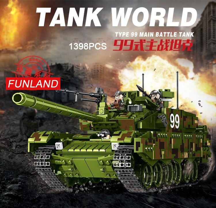 Modern military ww2 building block model world war army minifigs China ZTZ Type 99 Main Battle Tank batisbricks toys collection купить в Москве 2019