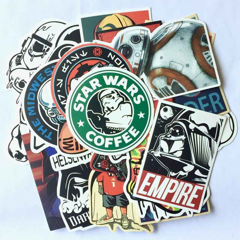 Cartoon Star Wars Stickers Laptop Graffiti Darth Vader Sticker Luggage Skateboard Waterproof Stickers Pack Classic Toy 25Pcs/Lot