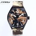 Reloj de pulsera de cuarzo hombres del ejército militar camuflaje moda casual boy faric 2017 nuevo sinobi relojes hombre reloj reloj al aire libre