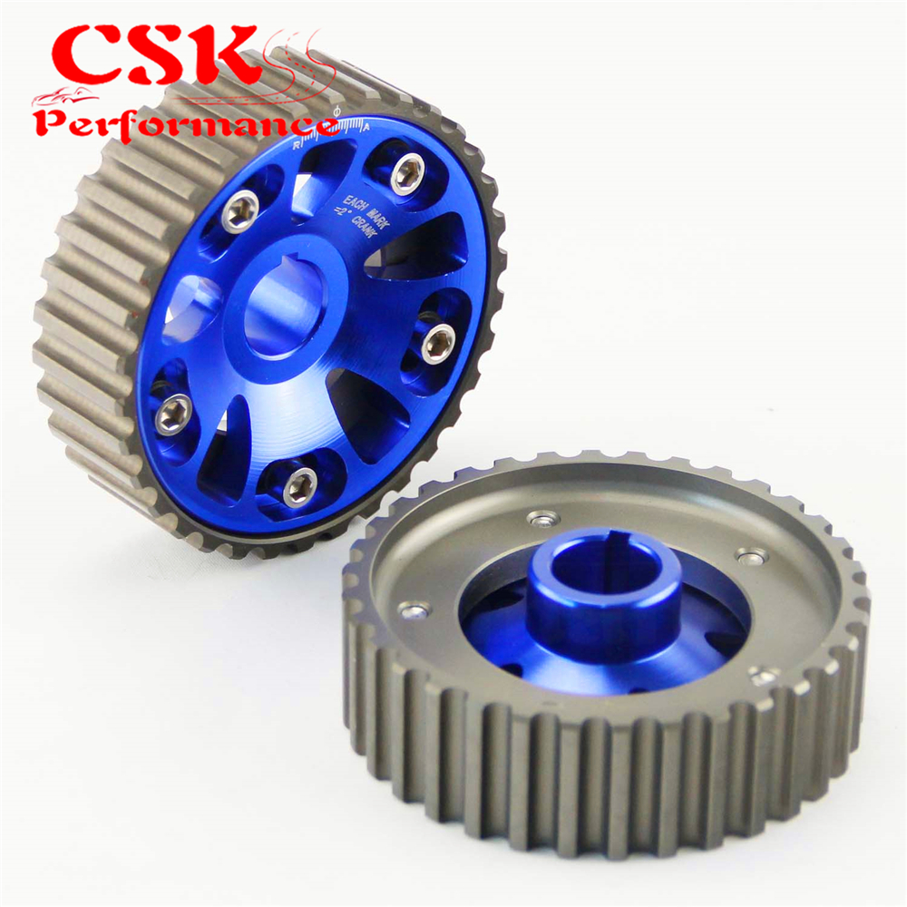 2 Pcs High Performance Cam Gears Pulley Kit Fits For 88-00 <font><b>Honda</b></font> <font><b>Civic</b></font> <font><b>B16A</b></font> B18C Integra DC2 Acura Black/Blue/Red image