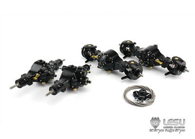 LESU Metal Axles A Differential Locks 1/14 RC 8X8 Tractor Truck DIY Tamiya Model lesu metal axles b differential locks 1 14 rc 6x6 tractor truck tamiya model