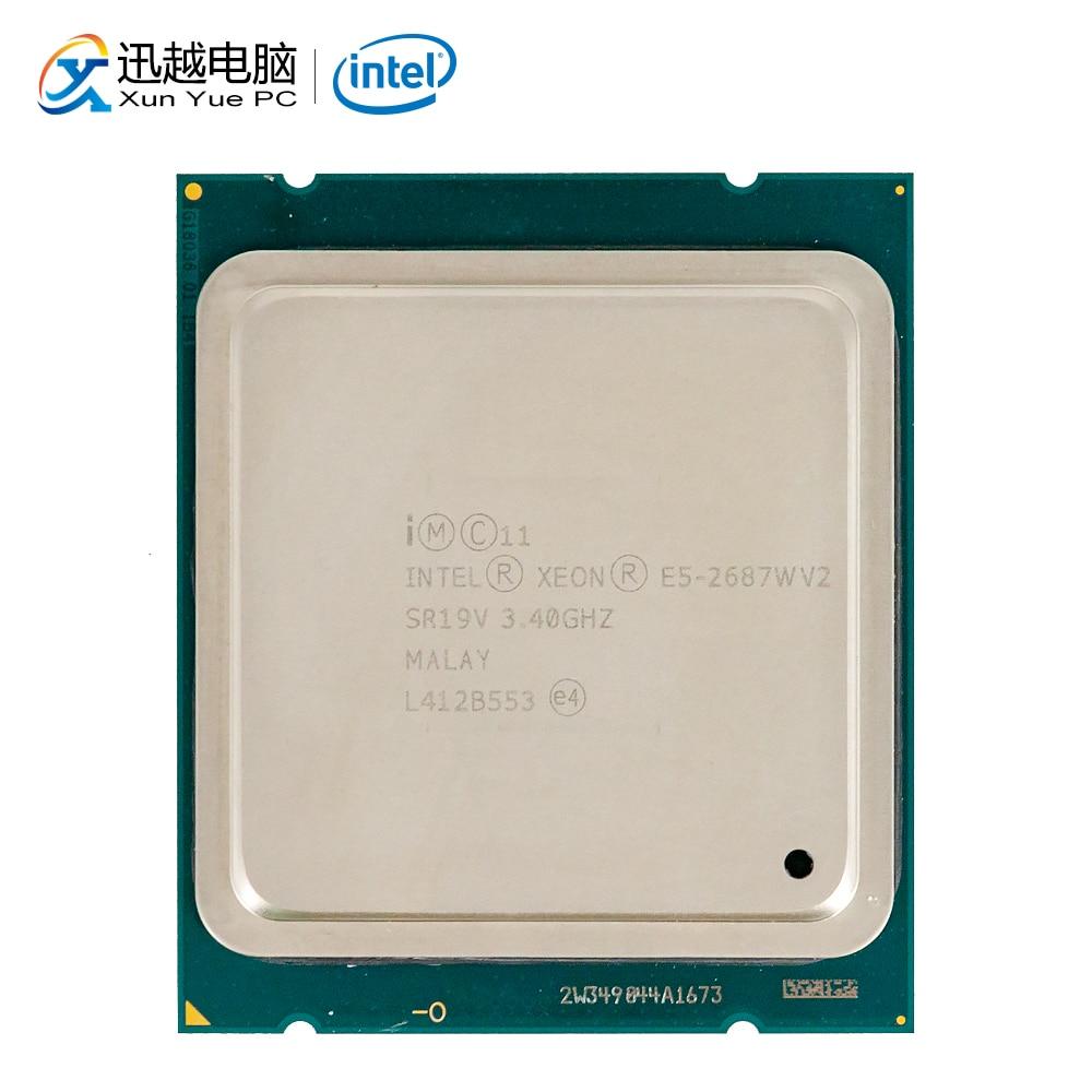 Processeur d'ordinateur de bureau Intel Xeon E5-2687W V2 2687 W V2 huit cœurs 3.4 GHz 25 mo L3 Cache LGA 2011 serveur CPU utilisé