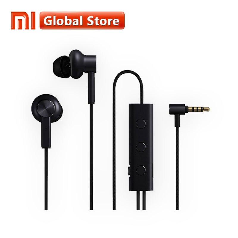 Оригинальный Xiaomi 3,5 ANC наушники Гибридные 3 единицы 2 класс шум отмена 6 серия Al-сплав оплетка провода металлический зажим L Plug Здравствуйте-Res ...