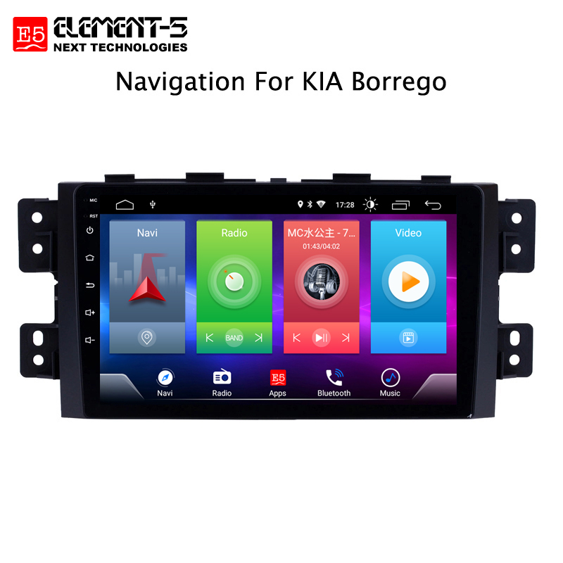 Car Android 8.1 Multimedia Player For Kia Borrego Mohave 2008 GPS Navigation Device Bluetooth Steering Wheel Control Support