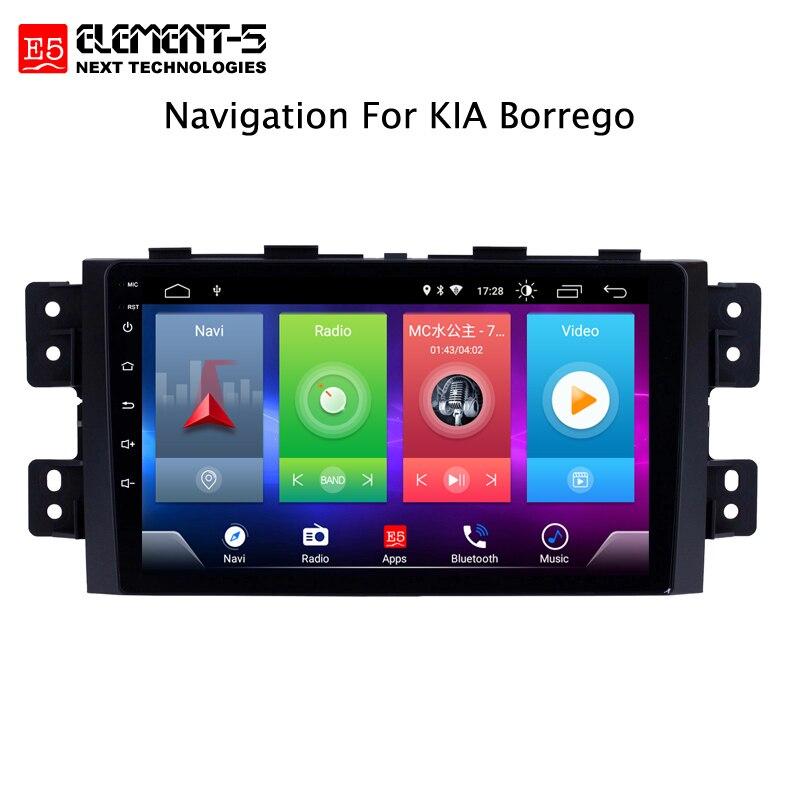 Lecteur multimédia de voiture Android 8.1 pour Kia Borrego Mohave 2008 dispositif de Navigation GPS support de commande de volant bluetooth