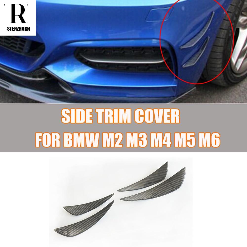 M3 M4 Carbon Fiber Front Bumper Side Canards Splitter