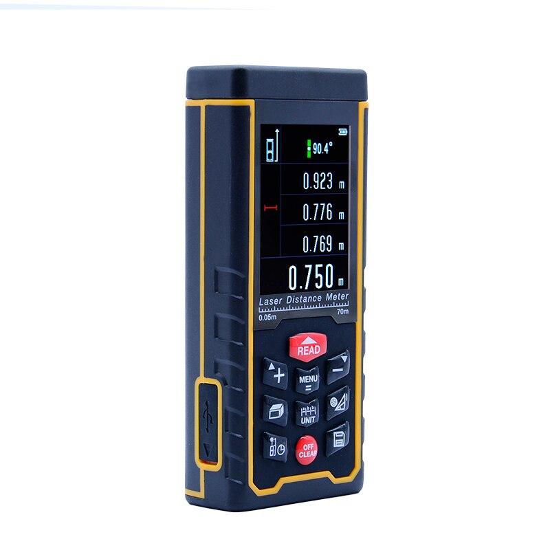 SNDWAY лазерный дальномер Мете лазерный дальномер Цифровой магнитофон USB Цвет дисплей Rechargeabel 70 м SW-S70