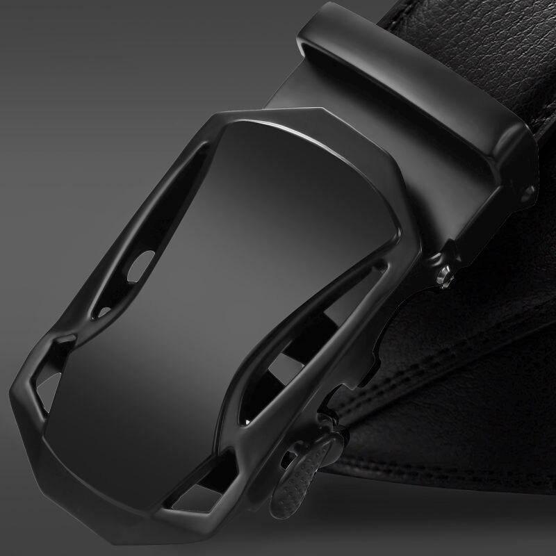 NO.ONEPAUL Automatic Buckle black Belts Luxury brand Male Genuine Leather Strap Belts For Men Top Quality Belt Cummerbunds