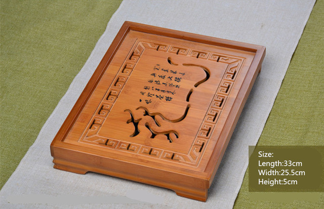 Traditional Bamboo Tray Tea Table