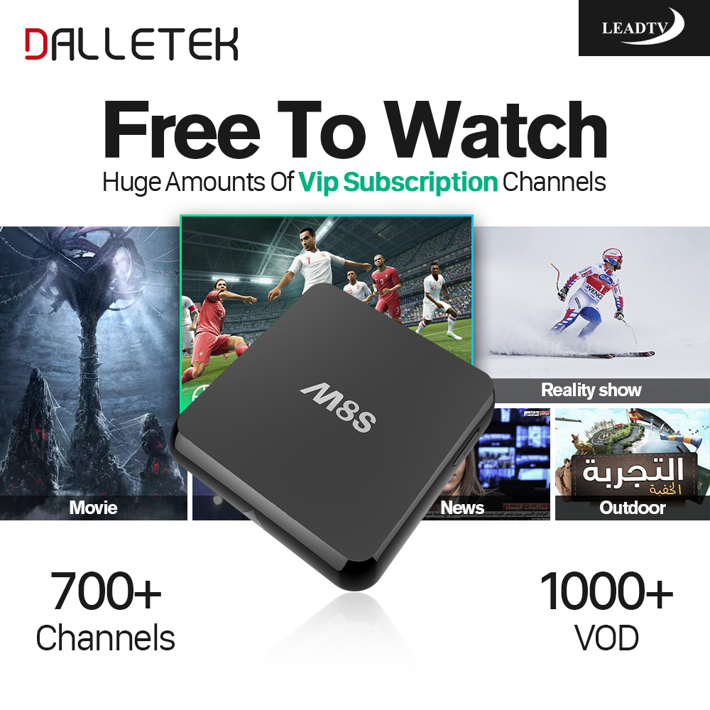 Dalletektv Iptv Europe Android Tv Box 2GB With Free Arabic French Sport IPTV Channels Load Wireless Bluetooth HD Media Player gotit cs918 android 4 4 tv box with 1year arabic royal iptv europe africa latino american iptv rk3128 media player smart tv box