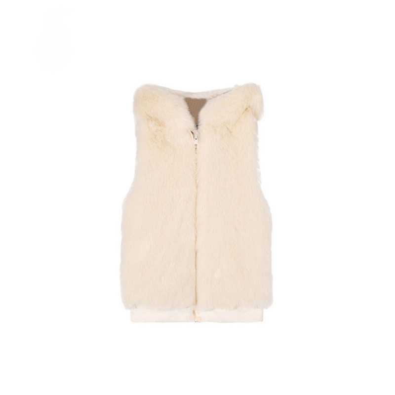 Fashion Autumn Winter Girl's Vest Faux Fur Girl Clothes Thick Children Outfits Girl Waistcoats Kid's Apparel Baby Girl Vest цены в Москве 2017