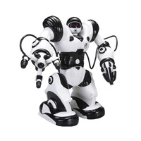New Jiaqi Electric Remote Controlled Robot Toys For Children Dance Gangnam Style Dialog Boxing Ait Toy