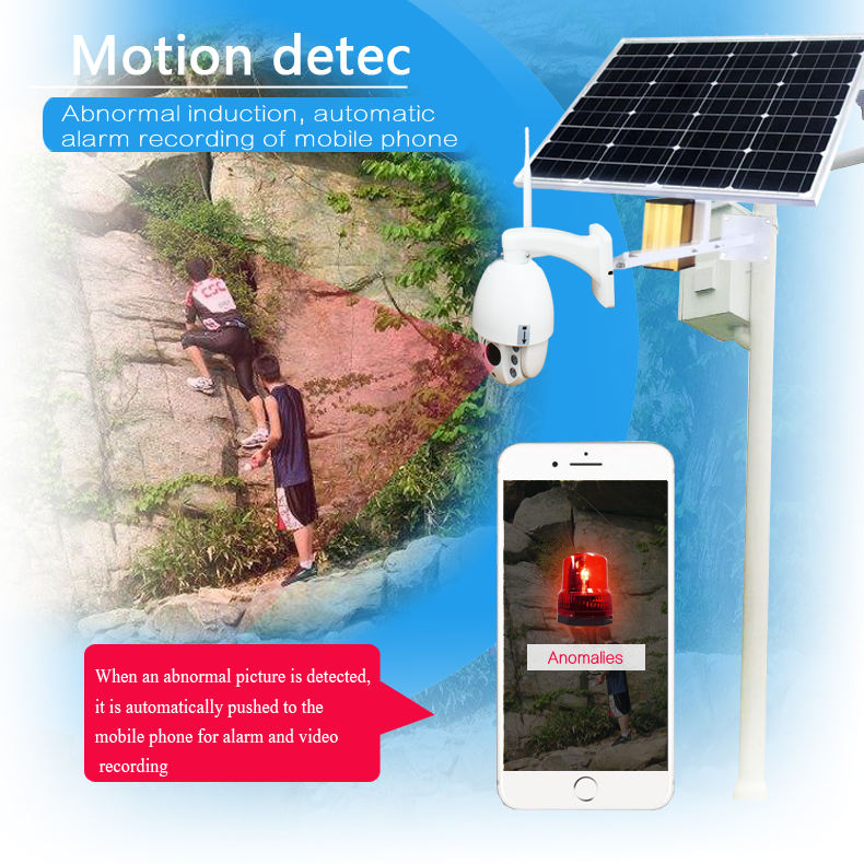 SmartYIBA 1080P 2.0M 5x Optical Zoom 4G SIM Solar Power Battery Surveillance CCTV Camera Wireless Outdoor Waterproof IP Camera