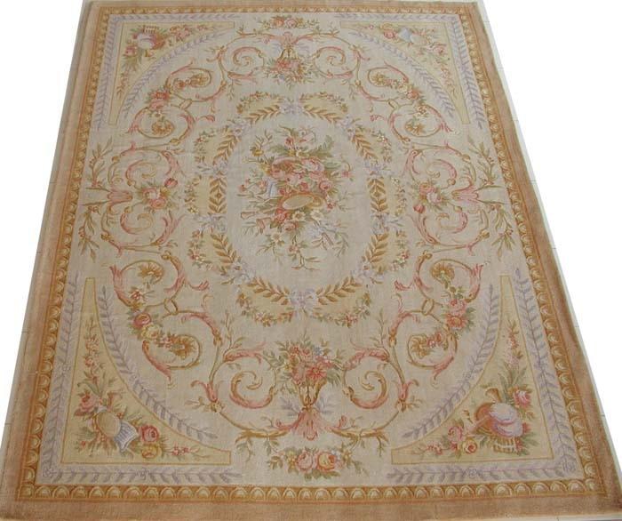 Livraison gratuite 9'x12' 90 ligne Royal Savonnerie tapis, 100% laine tapis fait main